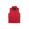 Vaughn Vest - Richmond Red with Plaid Lining