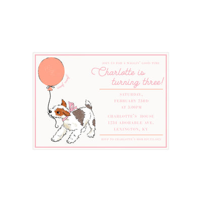 Birthday Invitations - Waggin' Good Time Girl