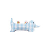 Wallace the Wiener Dog Pillow - Buckhead Blue Chattanooga Check with Nantucket Navy Gingham