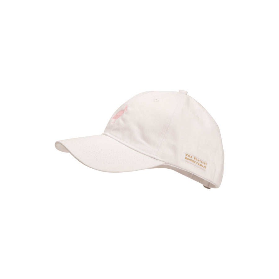 Adult Covington Cap - Worth Avenue White with Plantation Pink Stork