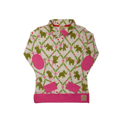 Pendleton Popped Collar (Ladies) - Highland Park Peanut with Hamptons Hot Pink