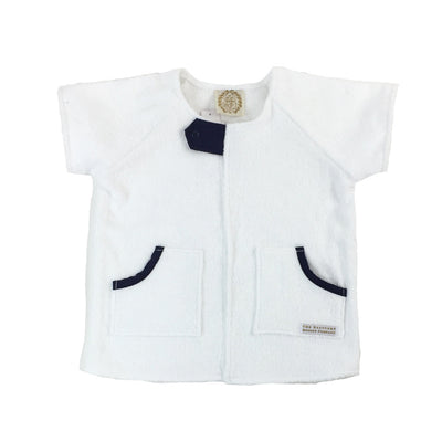 Yacht Club Coverup - Worth Avenue White with Nantucket Navy