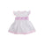 Addie Angel Sleeve Dress - Port Royal Rosebud with Smocking