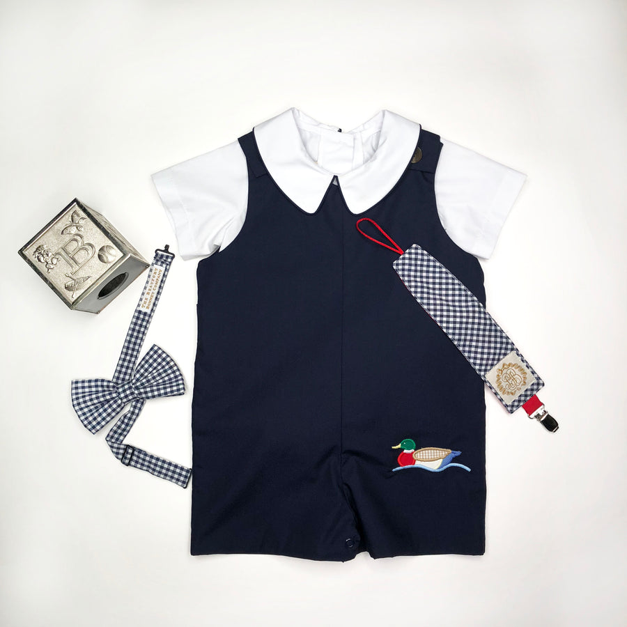 Jack Keene Jon Jon - Nantucket Navy with Duck Applique