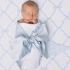 Silk Bow Swaddle <sup>&reg;</sup> - Sea Blue Silk