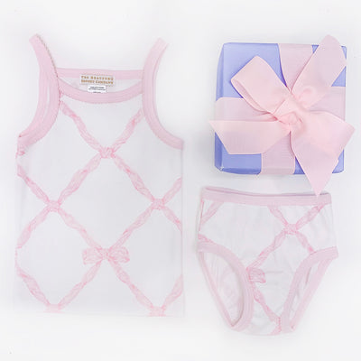Caroline Camisole - Belle Meade Bow with Plantation Pink