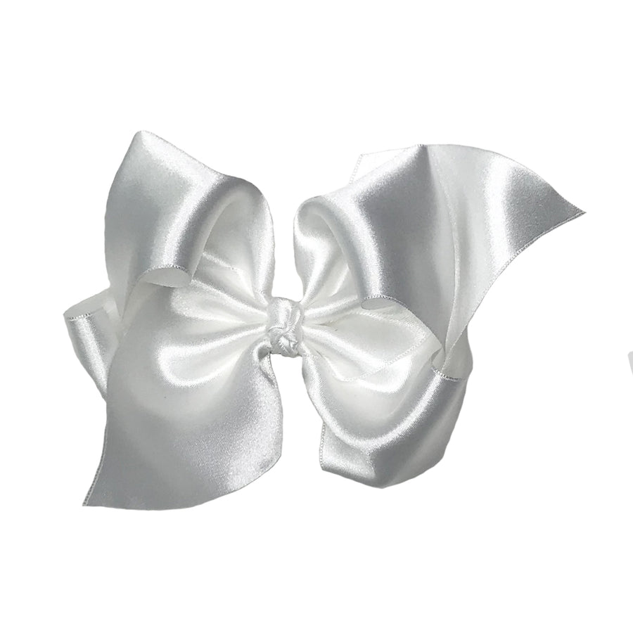 Wee Ones Satin Hair Bow - Palmetto Pearl