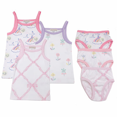 Pippy's Underpinnings - Sweet Pea Scribbles with Sandpearl Pink