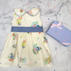 Sleeveless Cindy Lou Sash Dress - Biltmore Bouquet Fall Blossom with Park City Periwinkle