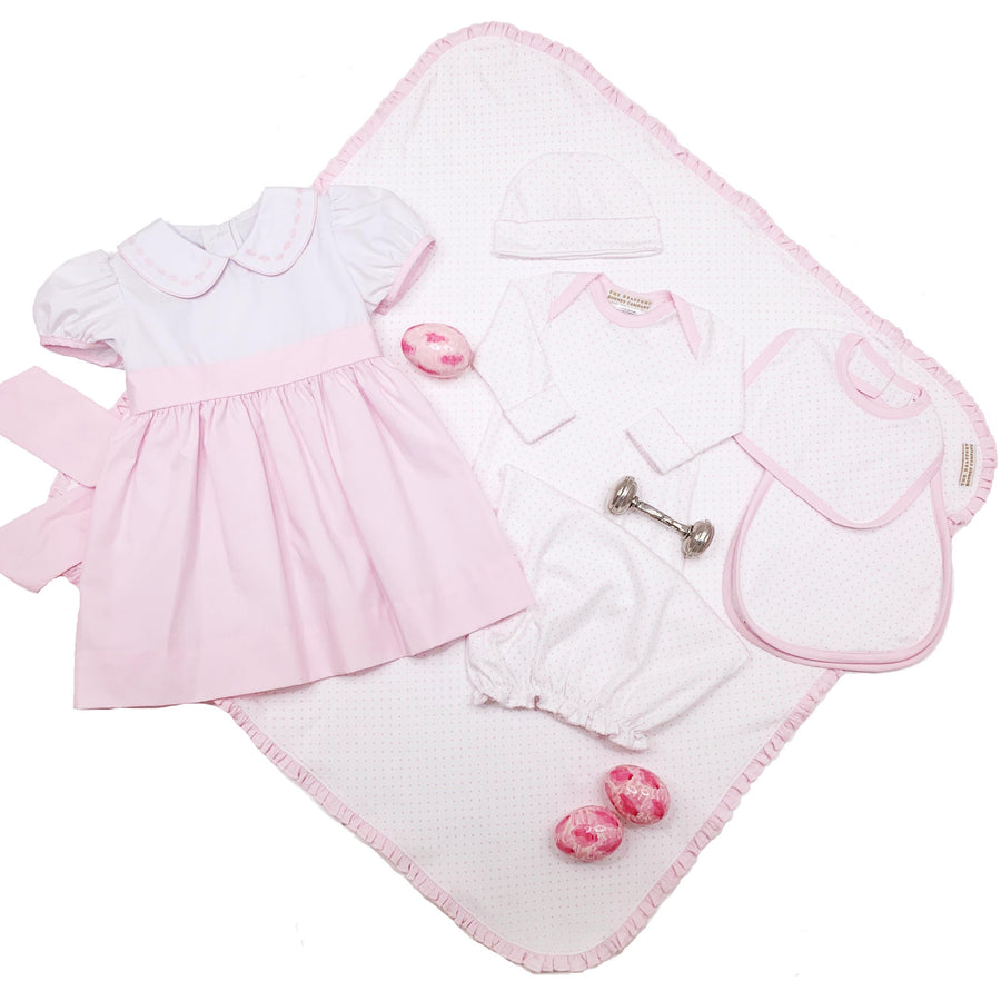 Adorable Everyday Set - Worth Avenue White with Plantation Pink Micro Dot