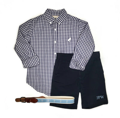 Dean's List Dress Shirt - Nantucket Navy Check