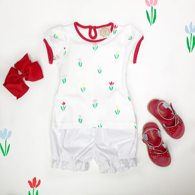 Penny's Play Shirt - Travilah Tulip with Richmond Red