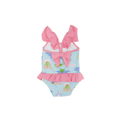 St. Lucia Swimsuit - Cabana Rentals with Hamptons Hot Pink
