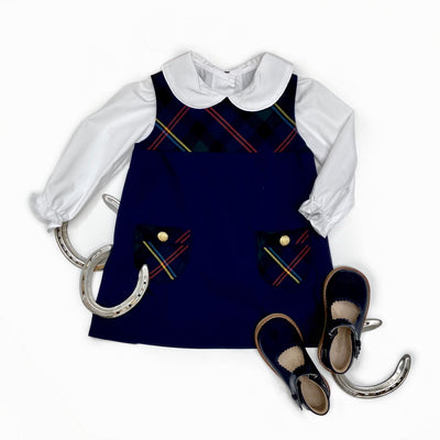 Jill Jumper - Horse Trail Tartan with Nantucket Navy