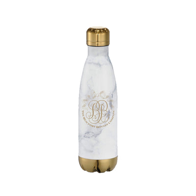 T.B.B.C. Water Bottle - Stainless Steel Marble with Logo
