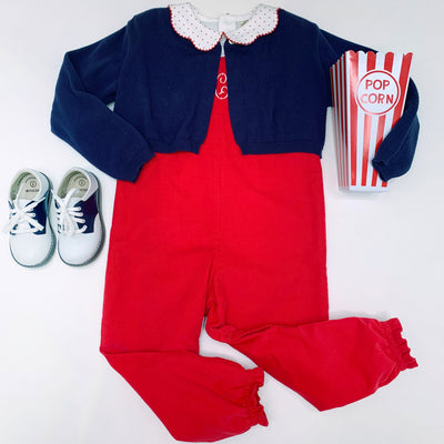 Violet's Vintage Overall (Corduroy) - Richmond Red