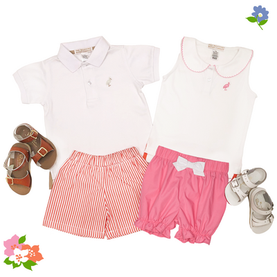 Paige's Playful Polo - Worth Avenue White with Hamptons Hot Pink