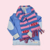 Pendleton Popped Collar - Park City Periwinkle & Buckhead Blue with Grantley Gray
