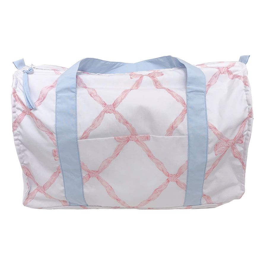 Stewart Sleepover Tote - Belle Meade Bow with Buckhead Blue