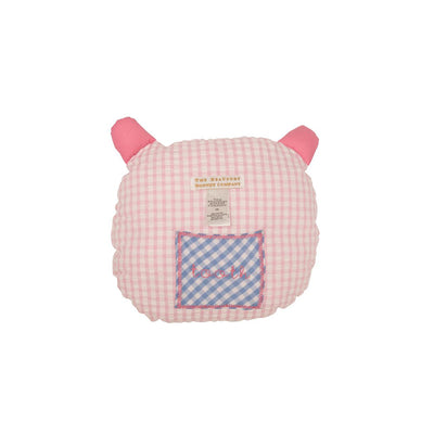 Pudge's Tooth Pillow - Pink Seersucker Check
