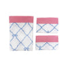 Sleep Tight Sheet Set - Belle Meade Bow Park City Periwinkle with Hamptons Hot Pink