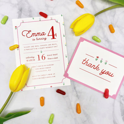 Birthday Invitations - Travilah Tulip