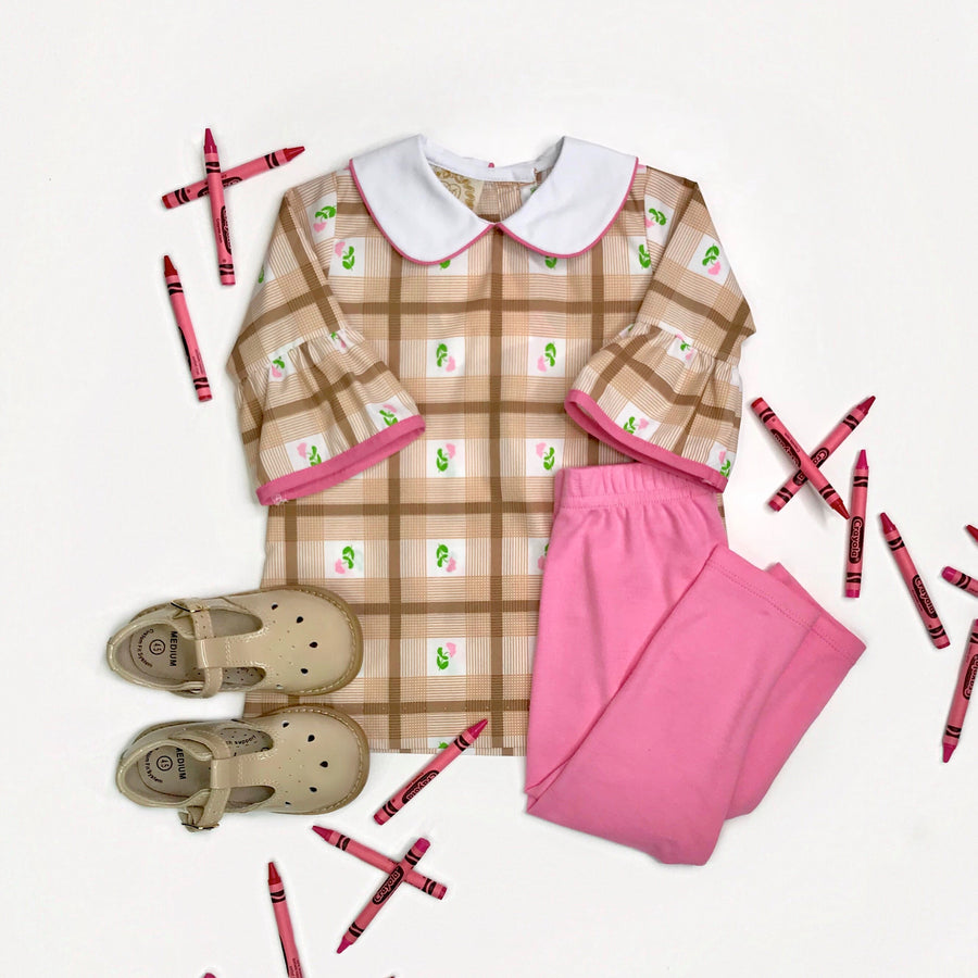 Twiggy Timeless Tunic - Plandome Plaid with Hamptons Hot Pink