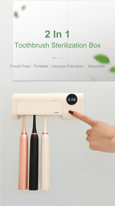 Toothbrush Holder & Sterilizer - UV Purge