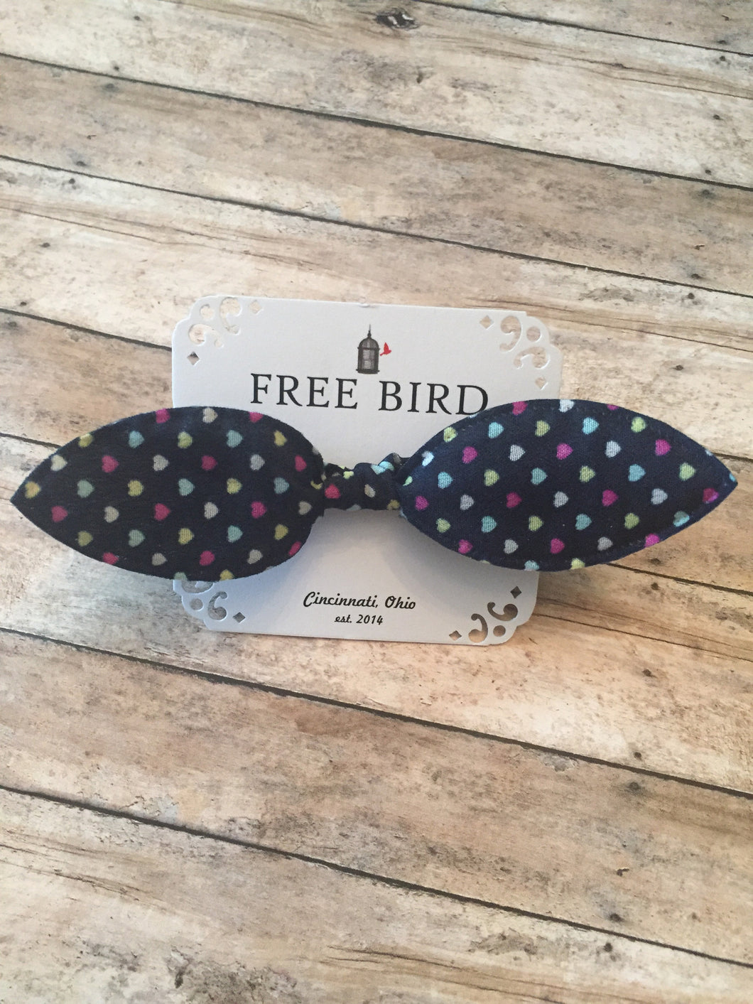 Free Bird Mini Hearts Bow Tie