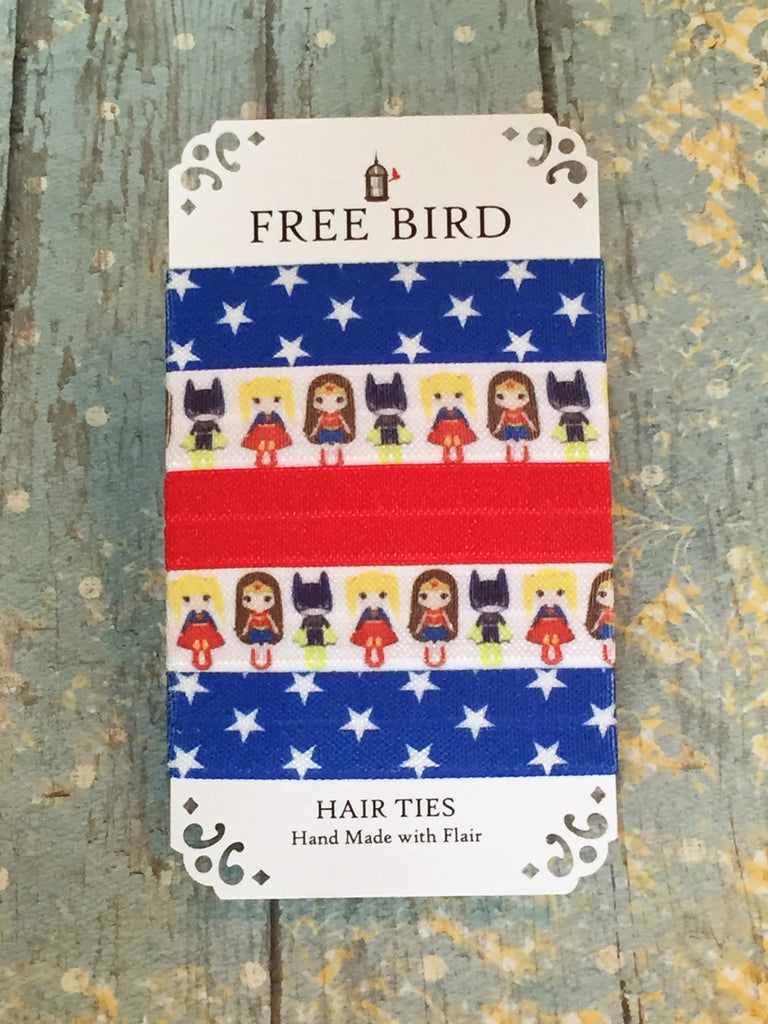 Free Bird Super Girls Hair Ties