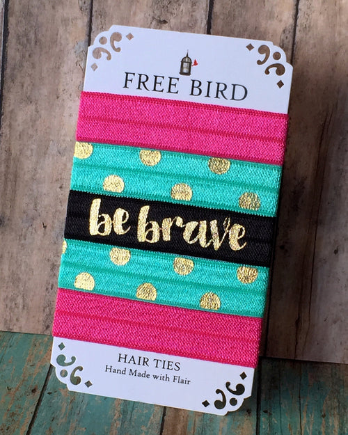 Free Bird Be Brave Hair Ties