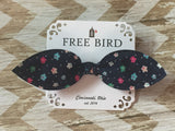 Free Bird Calico Bow Tie Scrunchies