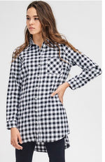 Black Buffalo Checked Tunic