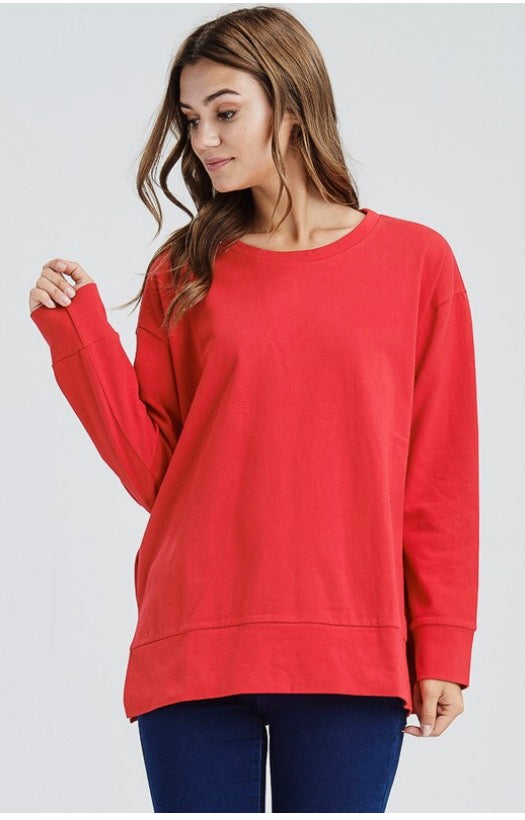 Relaxed Red Top