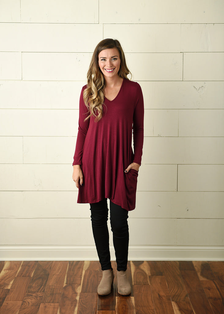 Kara Tunic- Burgundy