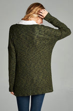 Load image into Gallery viewer, Olive Cross Front Tunic Sweater