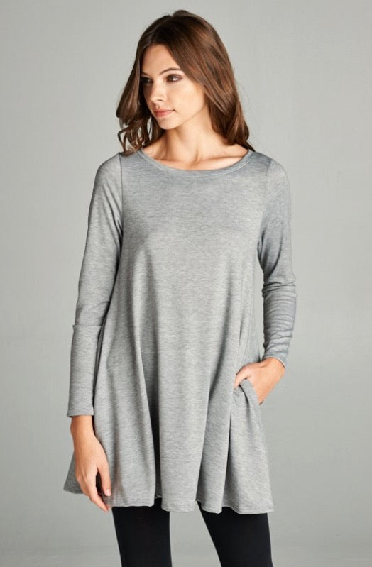 Gray Tunic Top