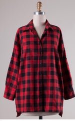 Red and Black Buffalo Plaid Flannel