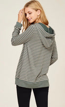 Load image into Gallery viewer, Olive Striped Hoodie