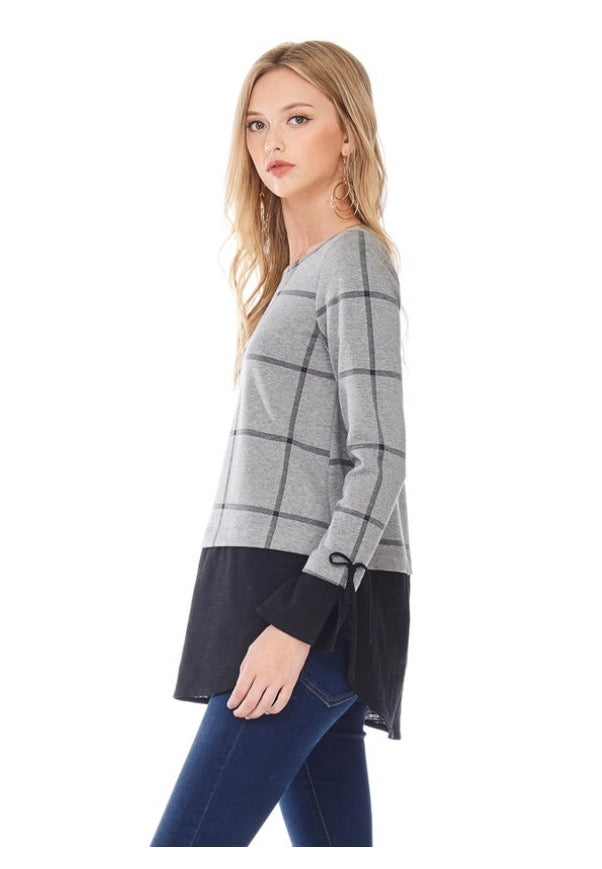 Charcoal Windowpane Tunic