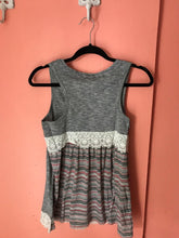 Load image into Gallery viewer, Striped lace accent tank