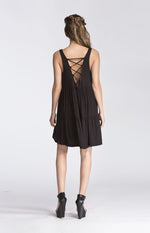 Tiered sun dress- Black