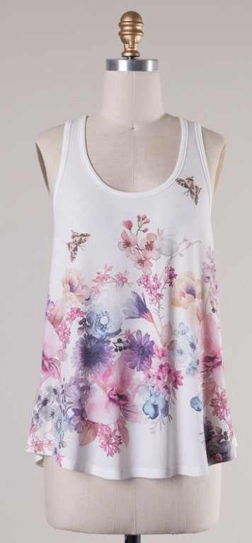 Small Print Floral Tank