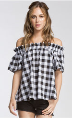 Buffalo Plaid Off the Shoulder