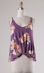 Floral Knotted Tank