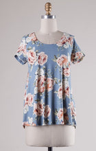 Load image into Gallery viewer, Floral Top with Cross Back