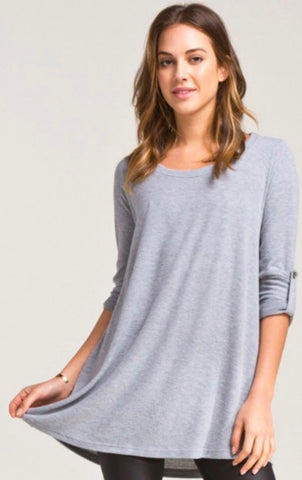 Soft Gray Tunic Top