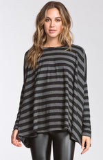 Striped A line Top