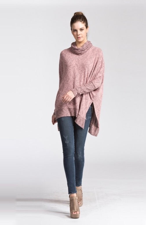 Dusty Pink Dolman Sleeve Tunic