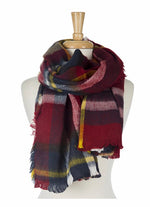 Burgundy and Gold Cozy Scarf